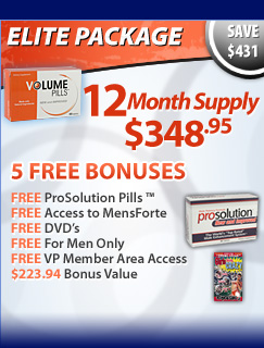 Volume Pills Elite Package